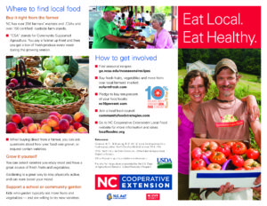 Eat Local, Eat Healthy Brochure page 1