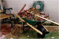wheelbarrel of yardwaste