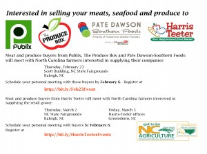 Cover photo for February and March - Meat, Seafood, and Produce Buyers Meetings With Producers