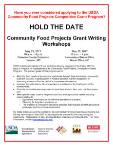 Community Food Projects Grant Workshop flyer