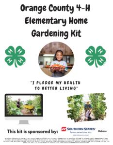 Orange County 4-H Gardening kit poster