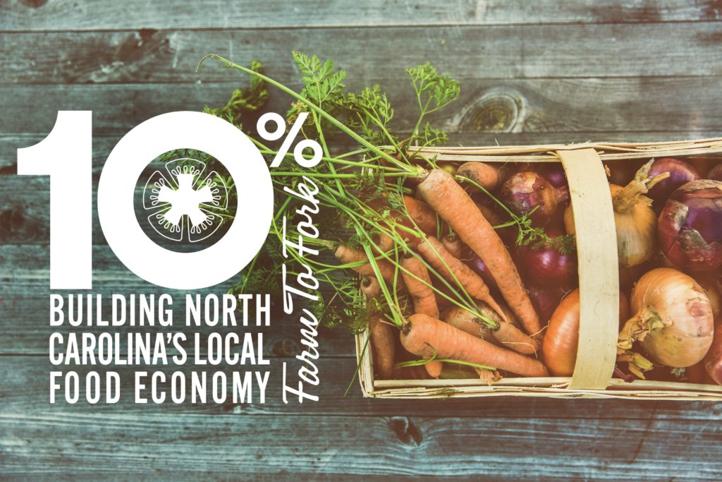 NC 10% Campaign logo with basket of veggies.