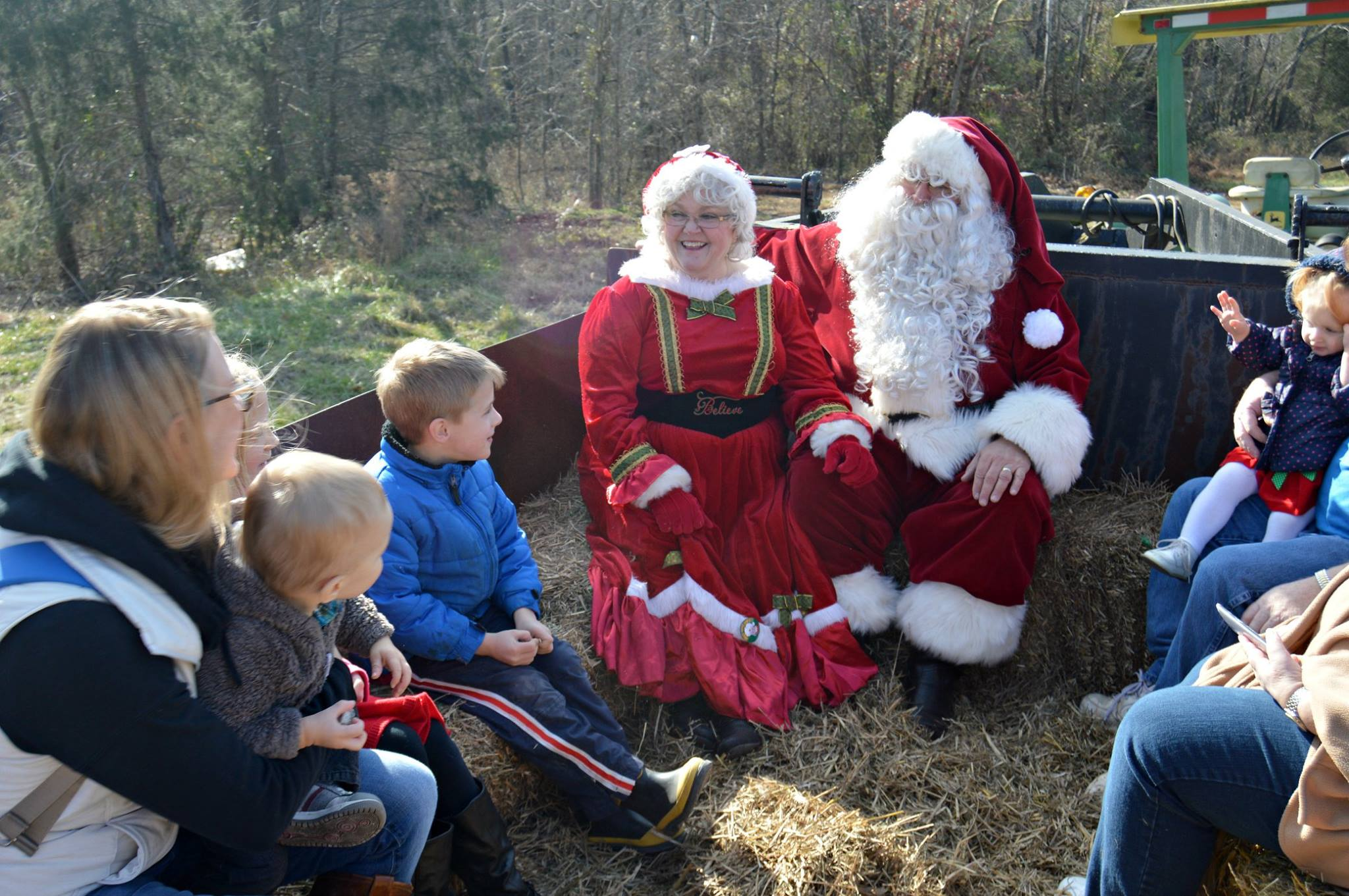 Santa with group of kids