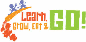 Learn, Grow, Eat, and Go! logo