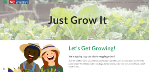 Just Grow It website banner image