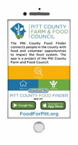 Pitt County's Food Finder phone app