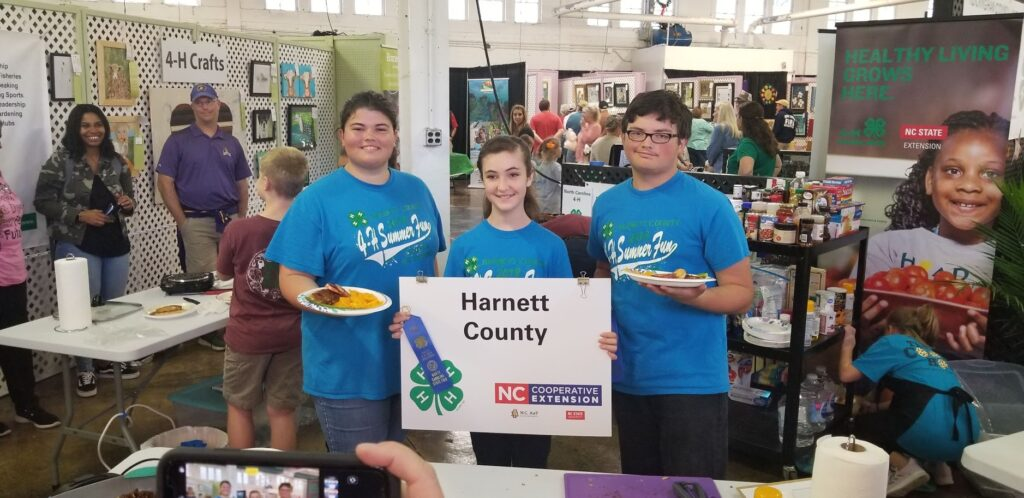 4-H Participants from Harnett County at a State Fair Competition